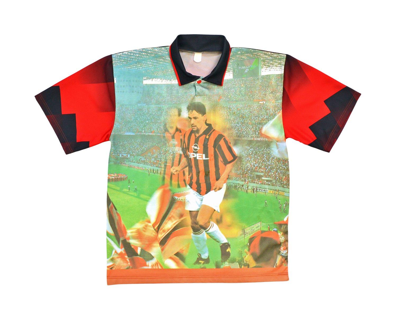 Image of 90s Baggio AC Milan Bootleg Shirt L