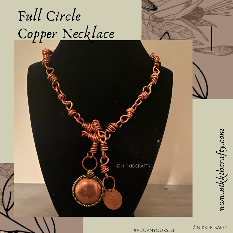 Image of Full Circle Copper Necklace