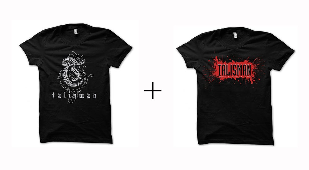 Image of Talisman - T-shirt bundle Classic Logo + Splatter Design