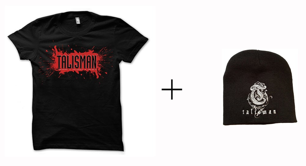 Image of Talisman -Bundle - T-shirt + Embroidered Logo Beanie Hat