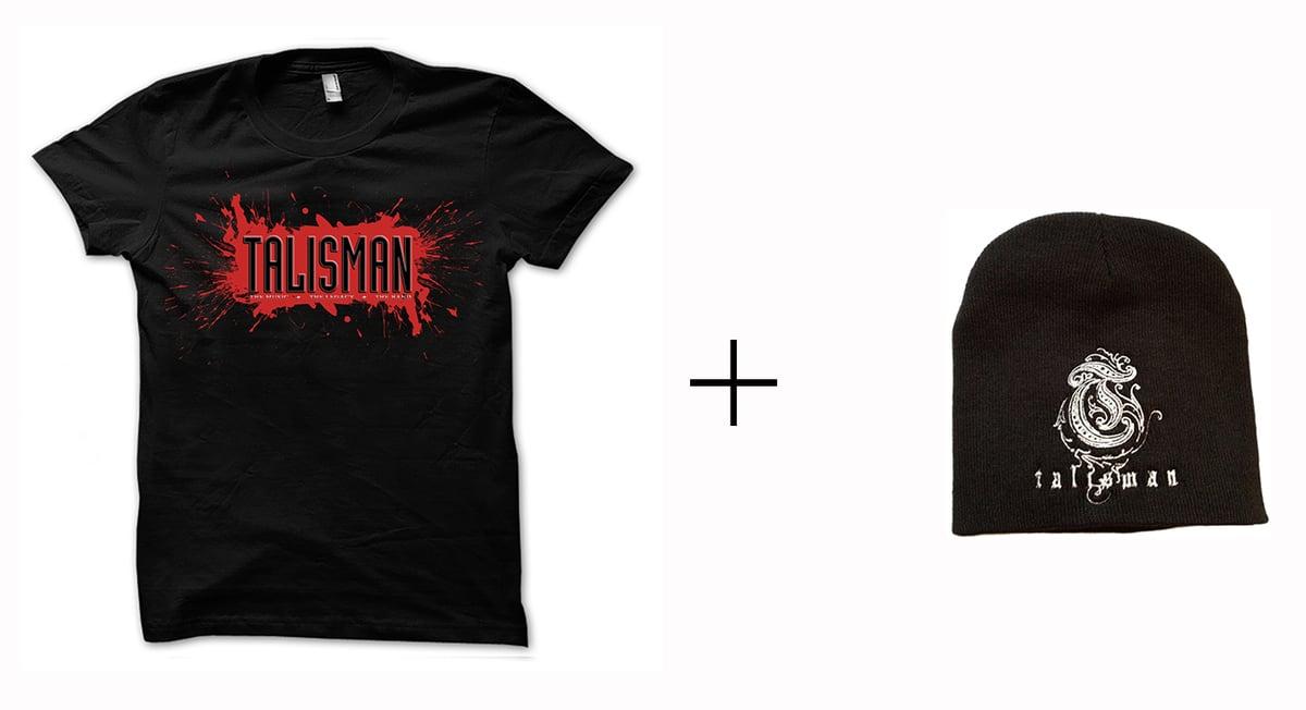 Image of Talisman -Bundle - T-shirt + Embroidered Logo Beanie Hat