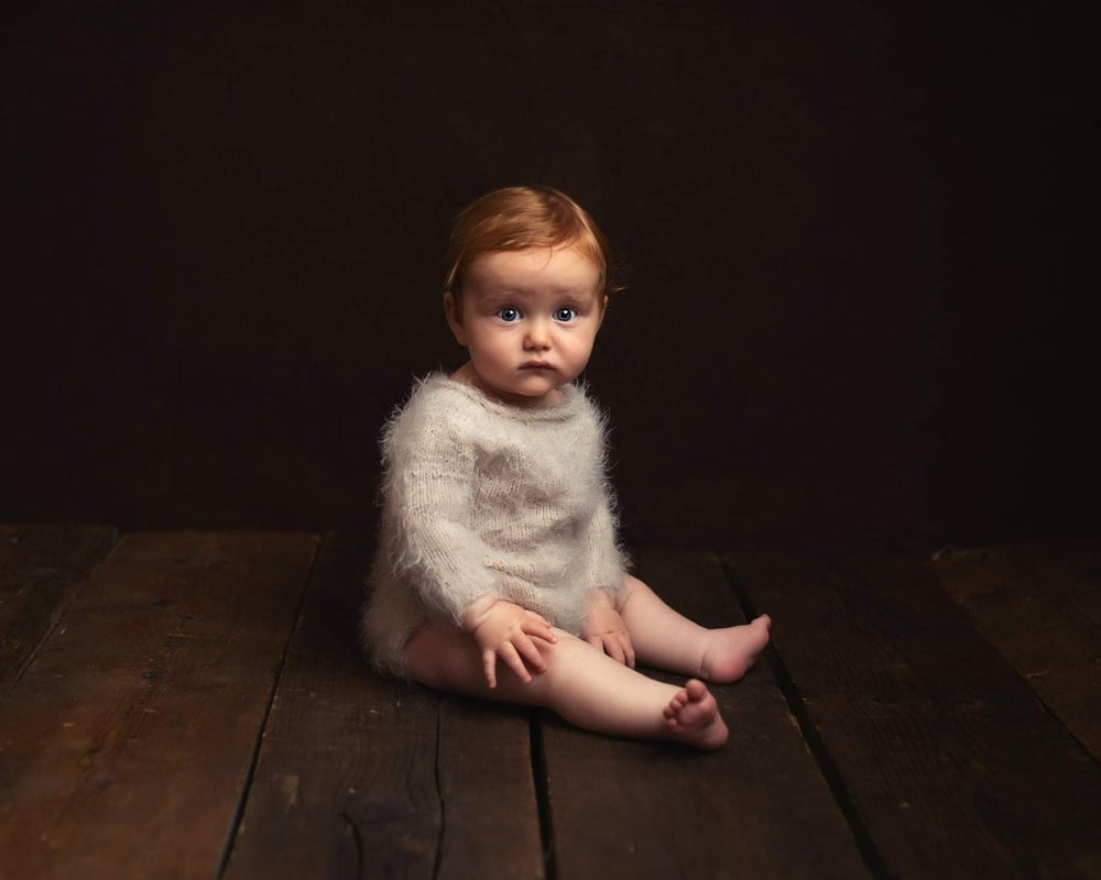 Image of Sitter 6-12 months sitter fuzzy rompers. Preorder