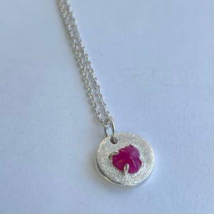 Image of Ruby Heart Necklace