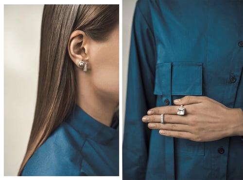 """Image of """"My dearest"""" silver earrings with pearls  · MEA VENUS ·"""