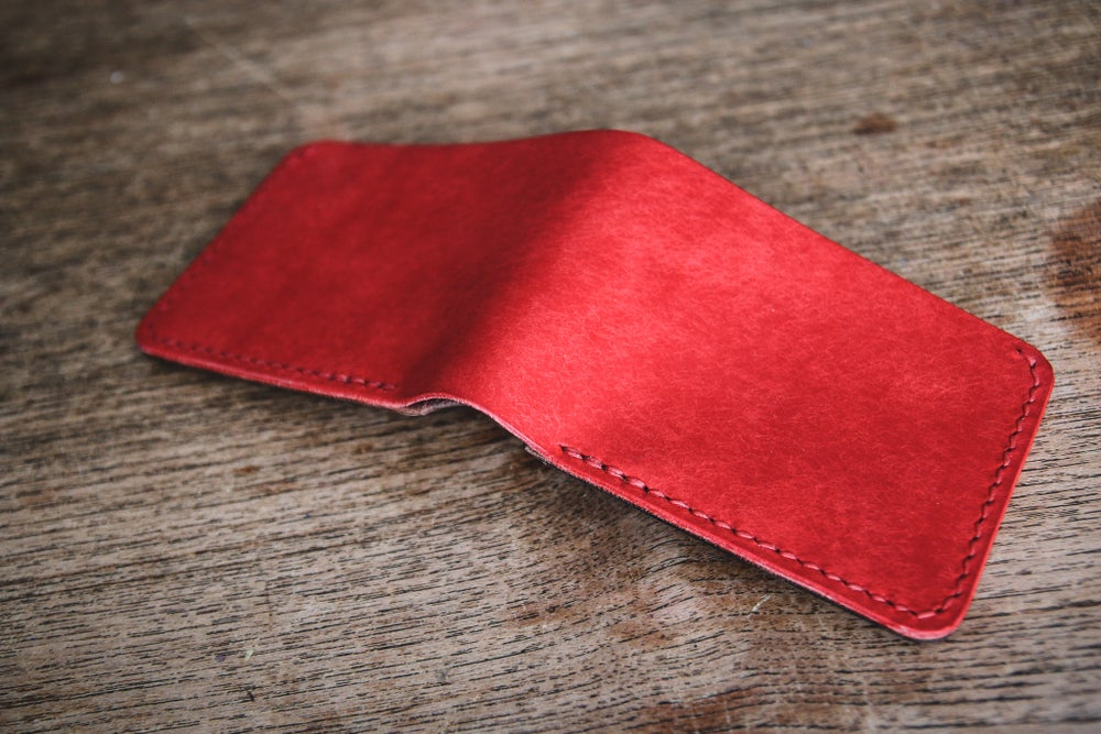 Image of Traditional Bifold in Red Pueblo and Black Chromexcel