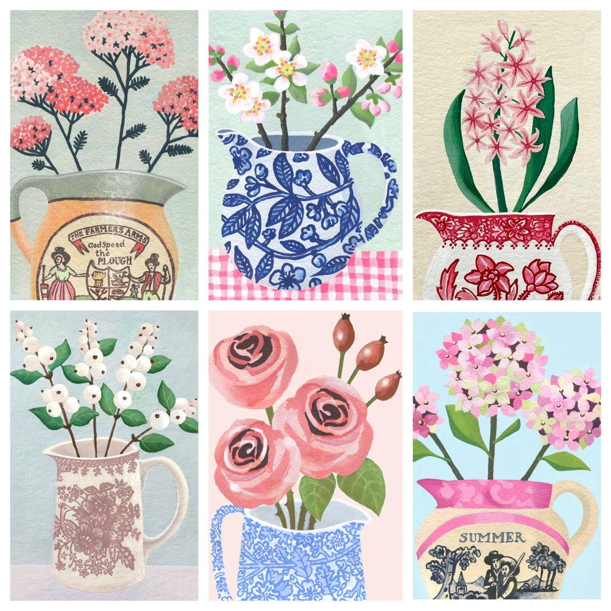 Romantic Florals 6 Card Bundle