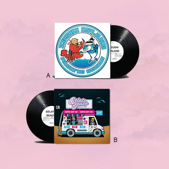Image of Zushi Island + Gelato Beach  LP (vinyl)