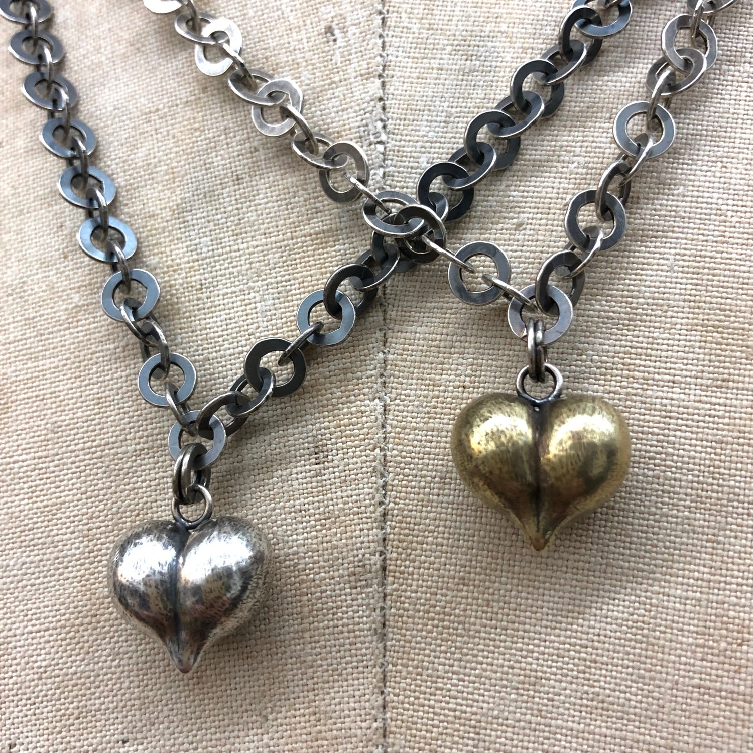 Image of Big cheeky heart necklace