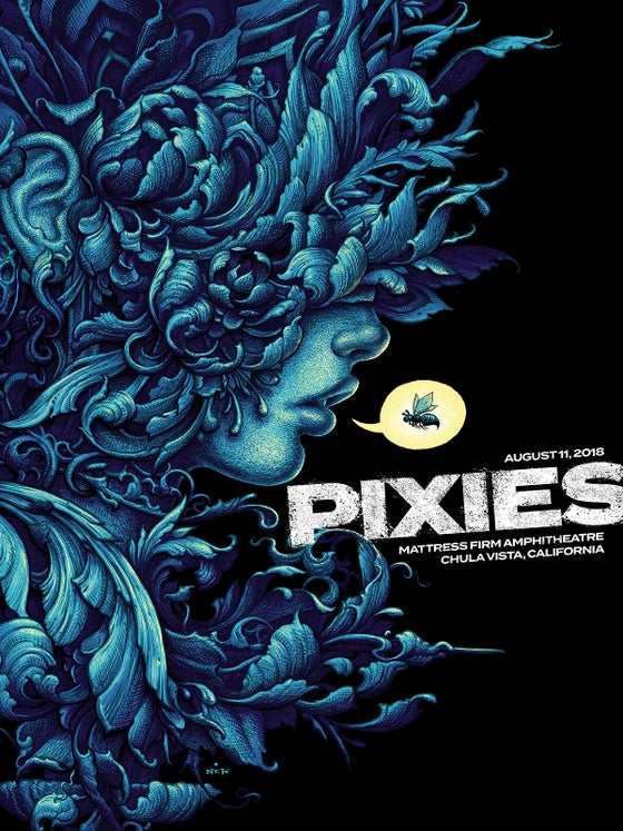 Image of Pixies Gig Poster, August 11 Chula Vista, CA