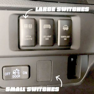 Image of Toyota OEM Style Small Switches (Only Blue Back Lights)
