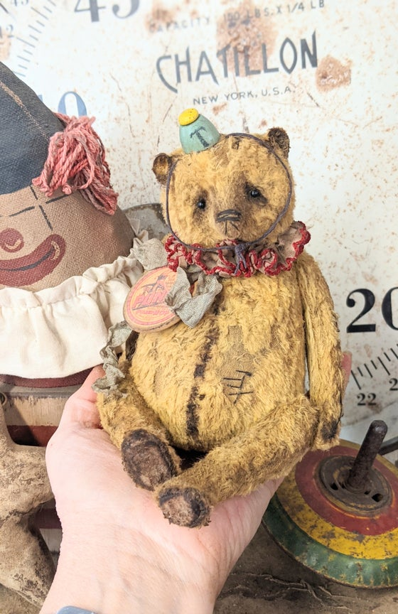 """Image of NEW DESIGN - 7.5"""" PUNCH the Old fat Teddy Bear - by Whendi's Bears"""