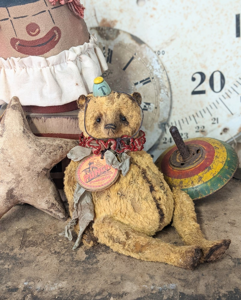 "Image of NEW DESIGN - 7.5"" PUNCH the Old fat Teddy Bear - by Whendi's Bears"