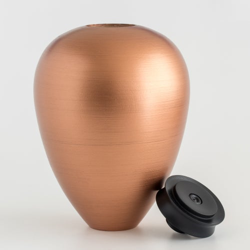 Image of Copper Hollow Form / Urn