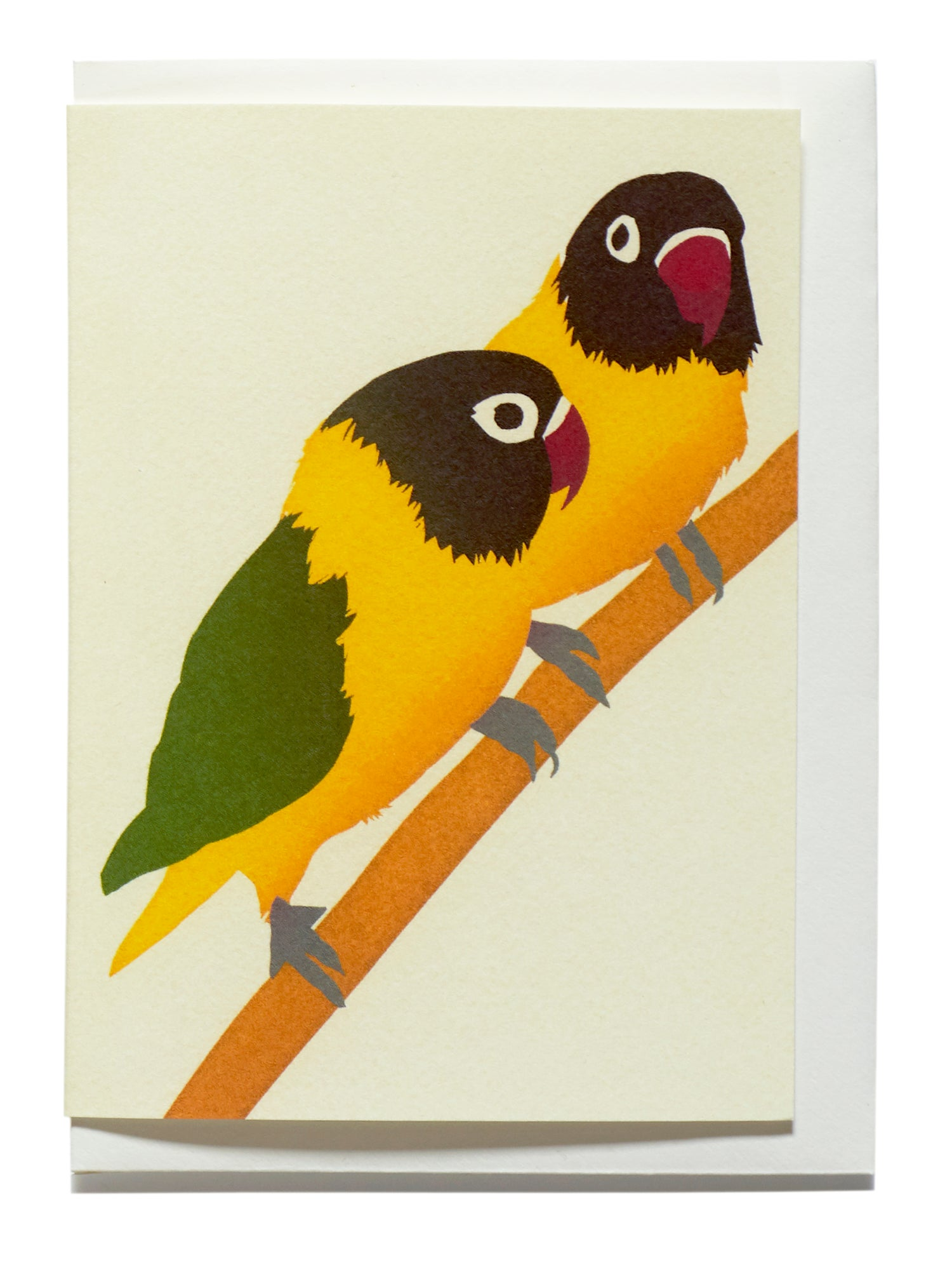 Image of Masked Love birds card