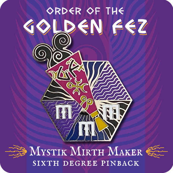 Image of Order of the Golden Fez Mystik Mirth Maker 6th Degree Enameled Pin