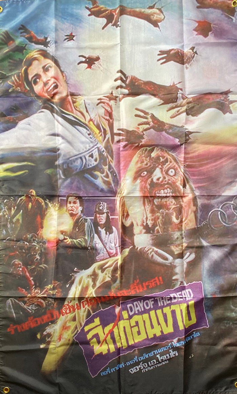 Image of Day Of The Dead  - Thai artwork- Flag / Banner / Tapestry