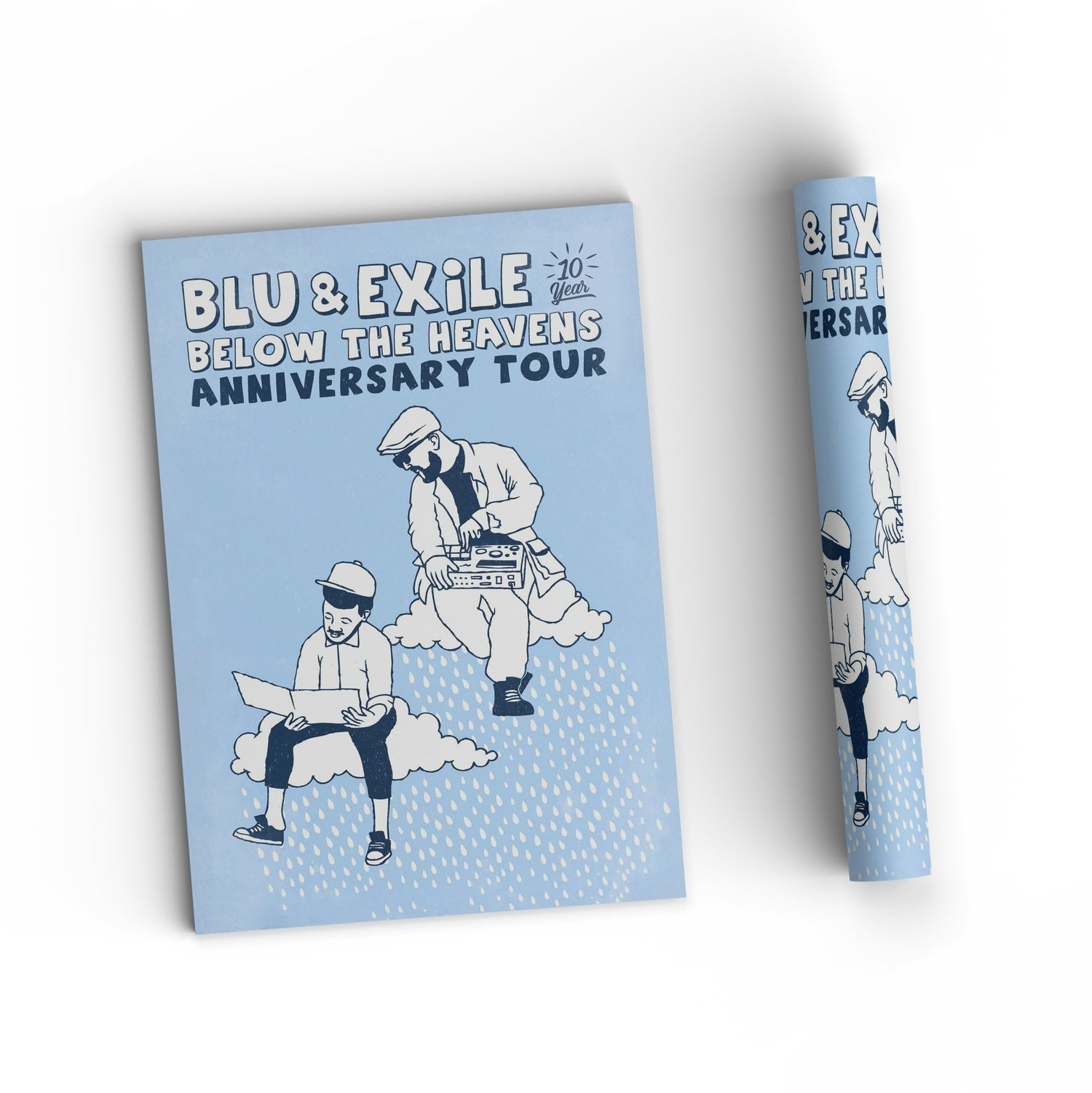"""Image of Blu & Exile """"Below The Heavens"""" Poster 11x17"""