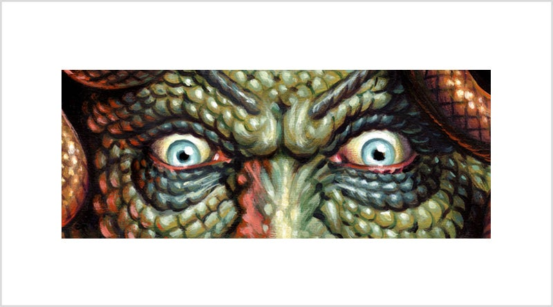 """The Head of the Gorgon"" - 9"" x 5""  limited edition giclee"