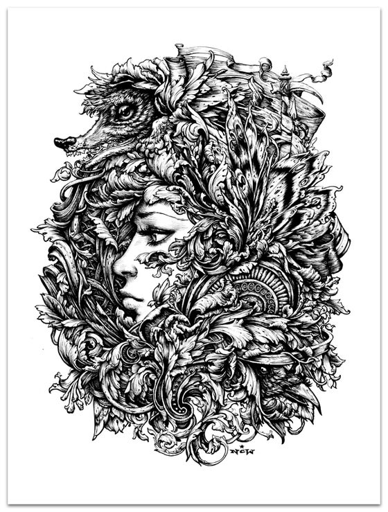 "Image of ""Herald of Antiquity"" screenprint"