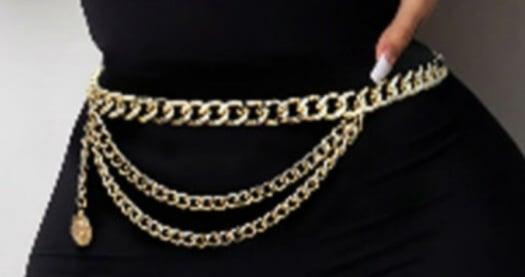 Image of REGULAR SIZE CHAIN WAIST BELT GOLD TONE