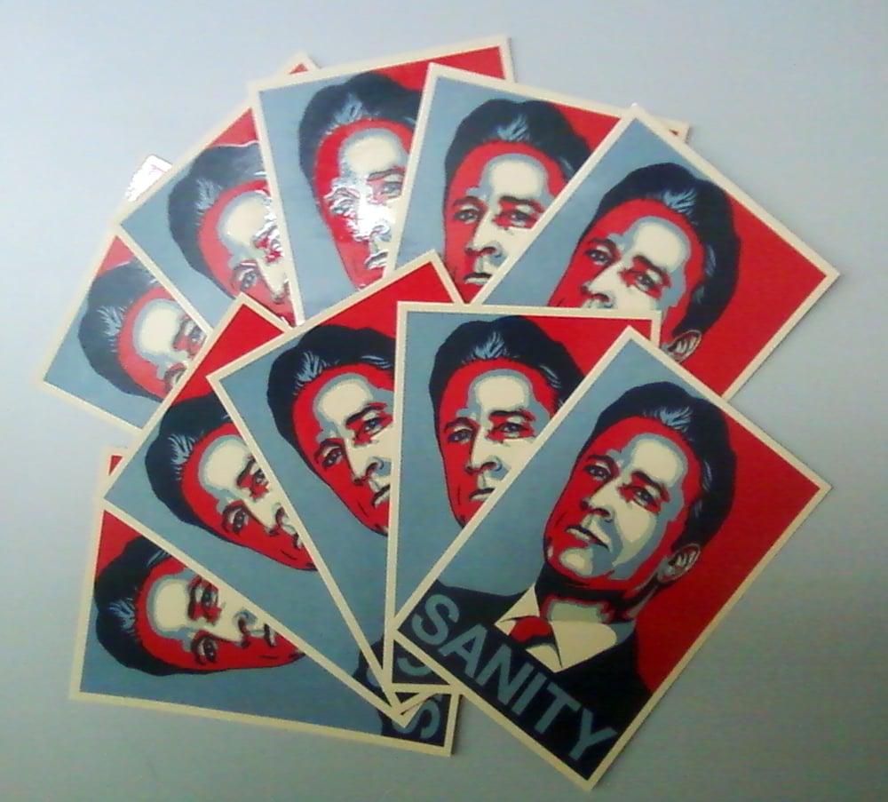 Image of Jon Stewart - SANITY Sticker (10 Pack)