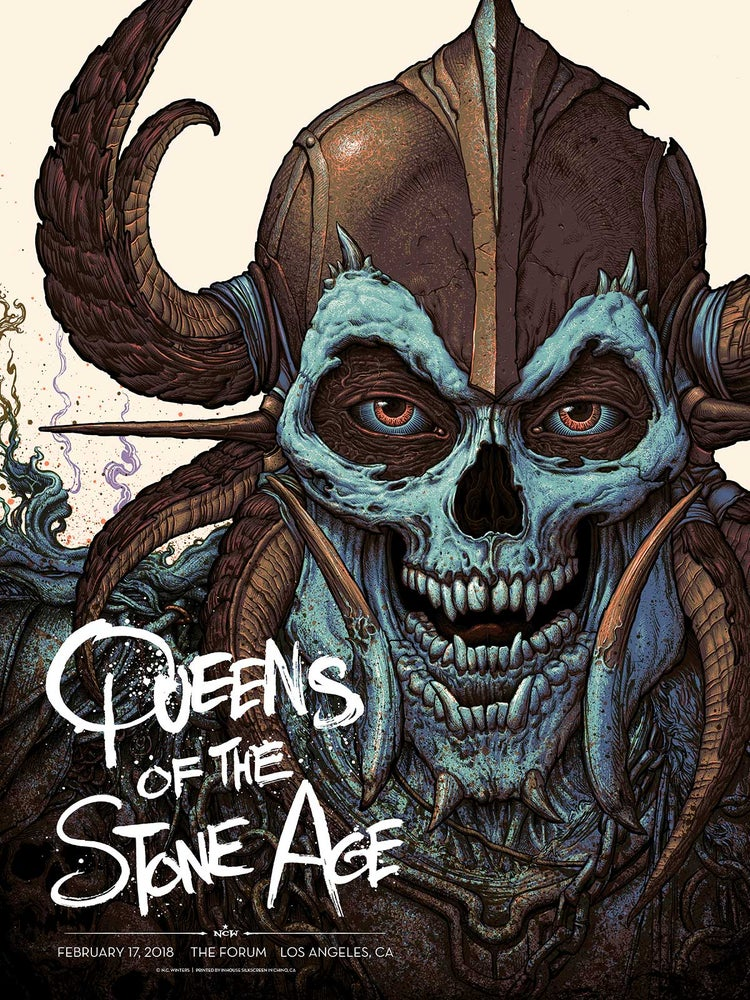 Image of Queens of the Stone Age: L.A. Forum Gig Poster