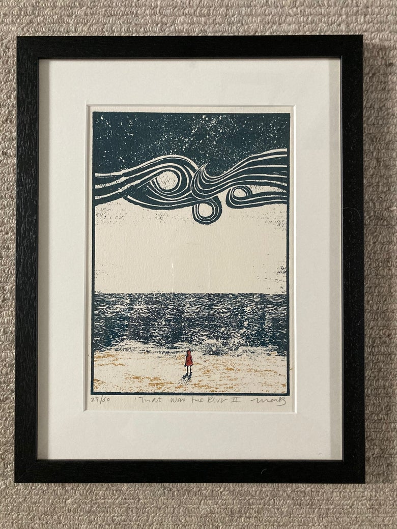 Image of That Was the River - Framed and ~Mounted Screen Print
