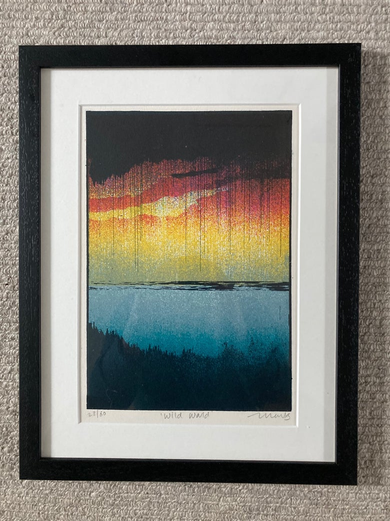 Image of Wild World - Framed and Mounted Screen Print
