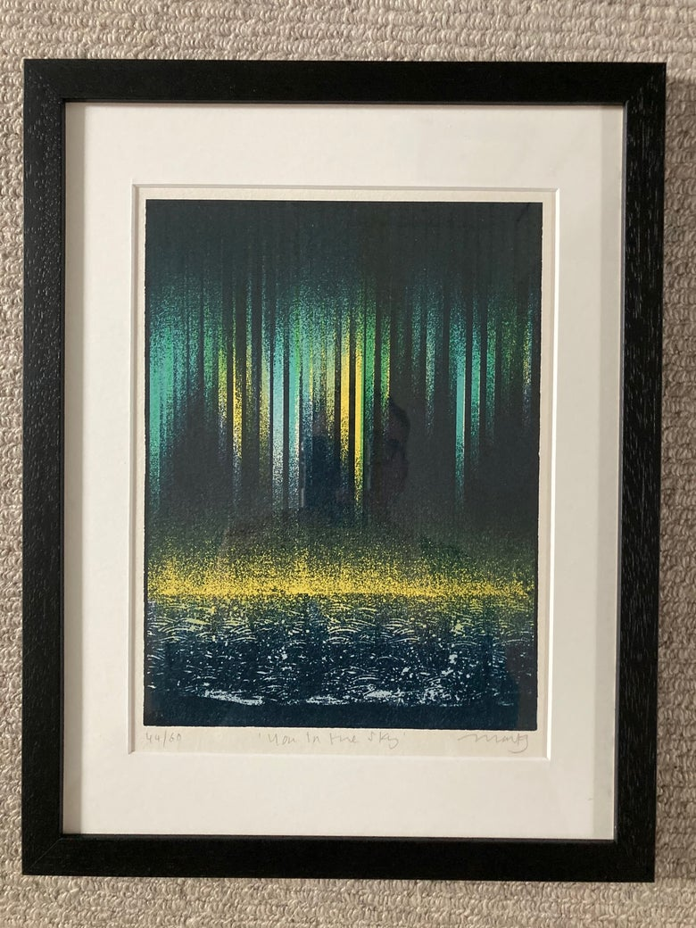 Image of You in the Sky - Framed and Mounted Screen Print