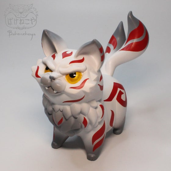Image of Bakeneko Kitten - White/Red