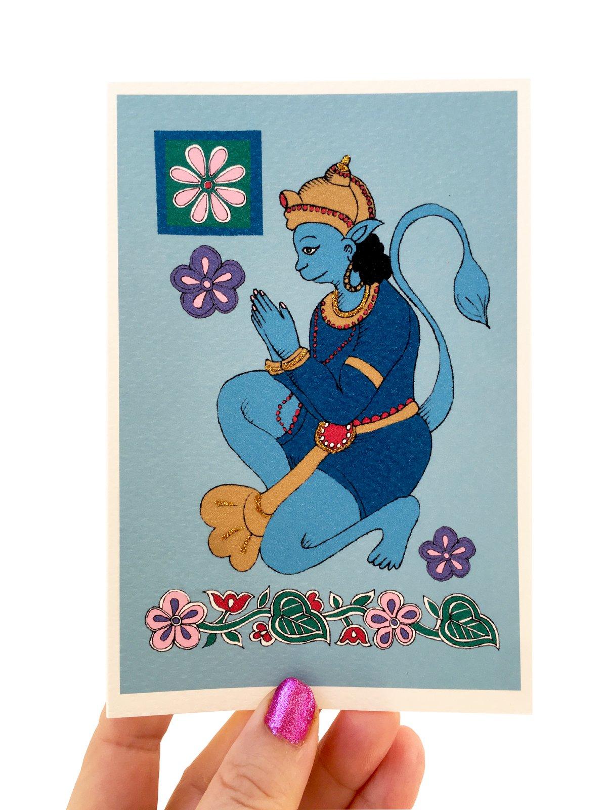 Lord Hanuman, Hindu God Card