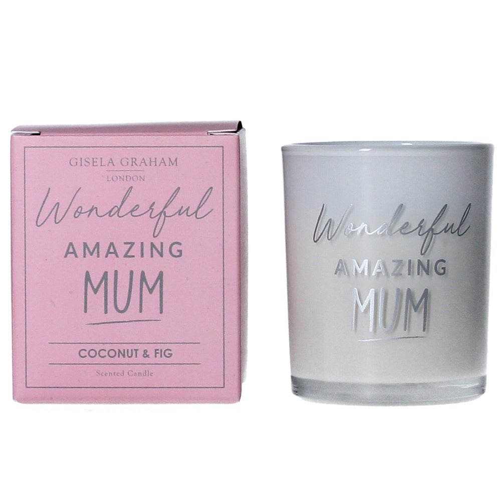 Image of Gisela Graham Wonderful Amazing Mum Votive Candle