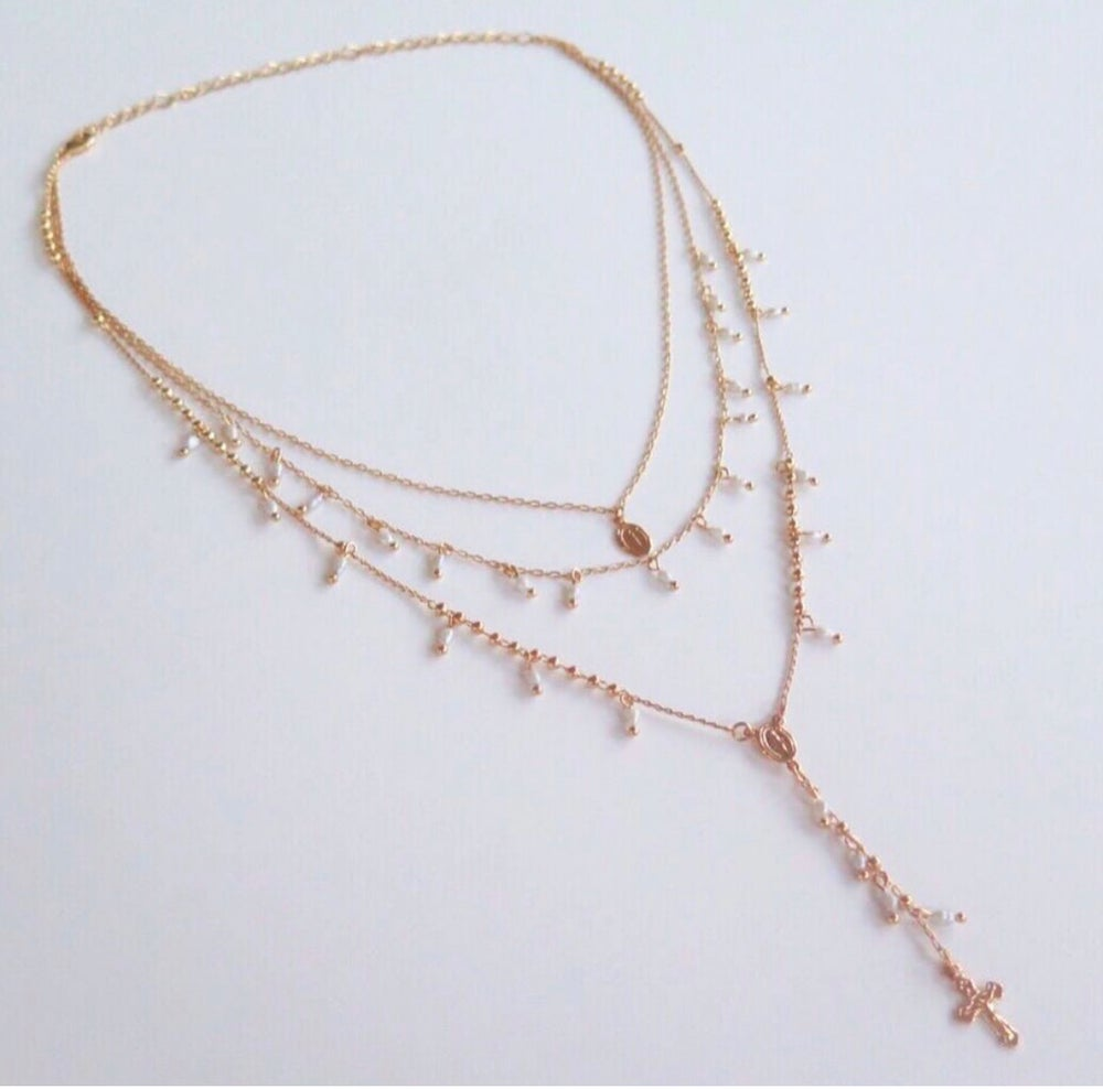 Image of Pearls Triple Rosary