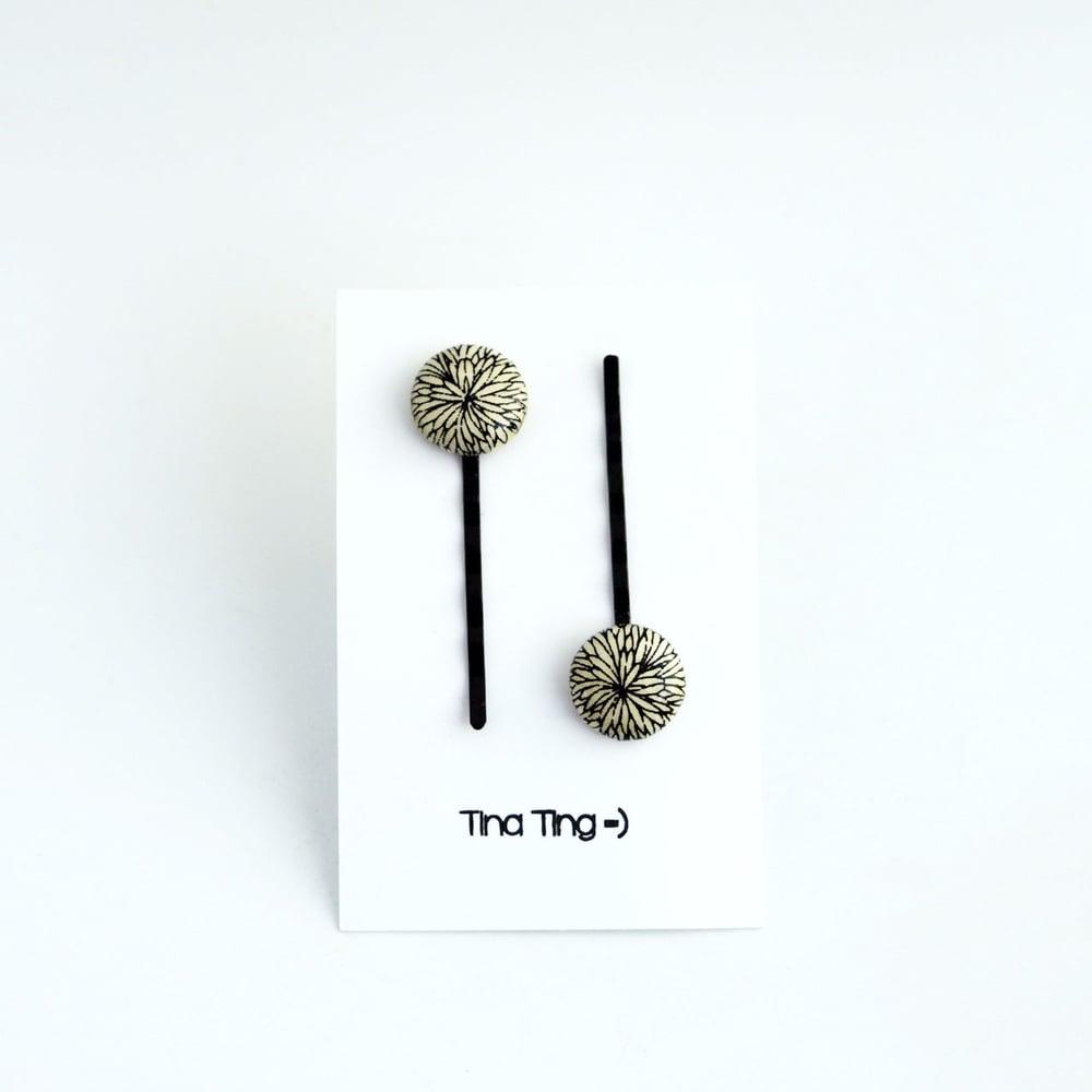 Image of TinaTing hårspenner trukket med papir (21-03)