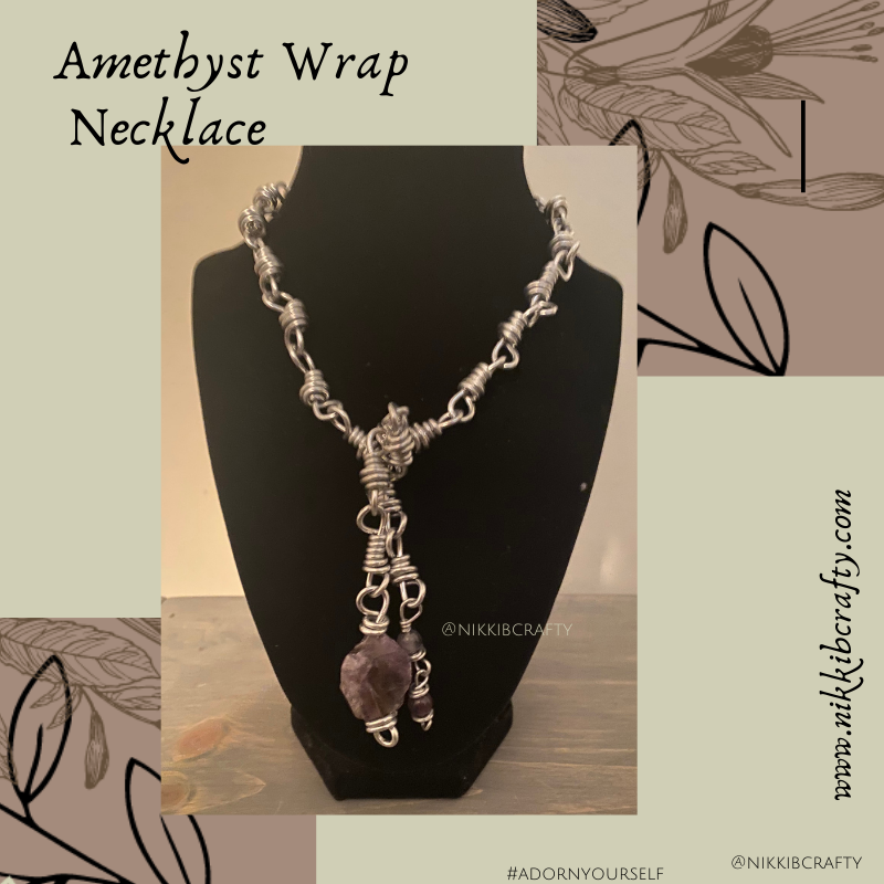 Image of Amethyst Wrap Necklace