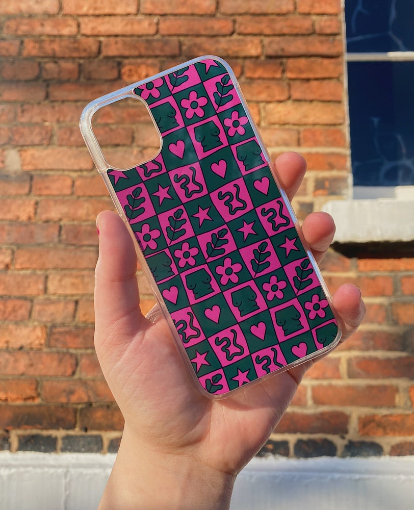 Image of checkered phone case