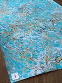 Marbled Paper Azure Blue & Royal Blue 1/2 sheets