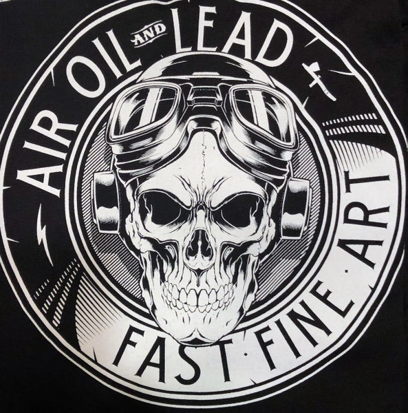 Image of Air Oil and Lead, Black/white logo Tee