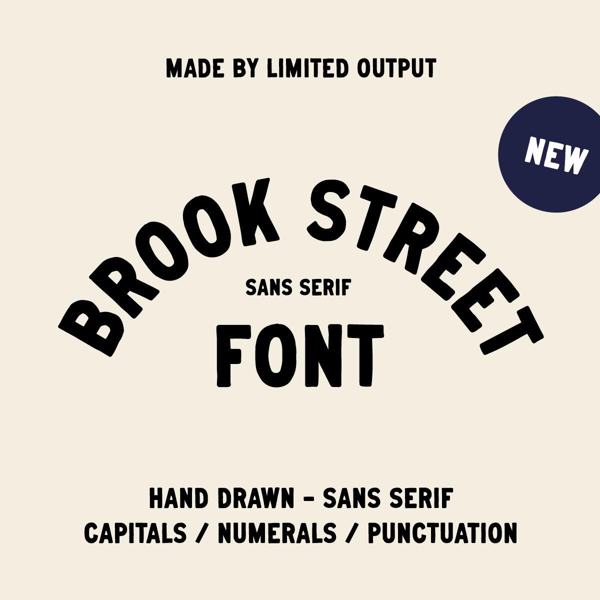Image of Brook Street - Font