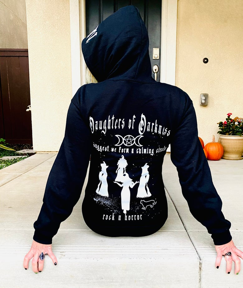 Image of Daughters Of Darkness Zip Up Hoodie
