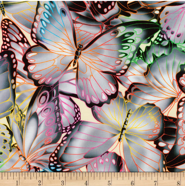 Image of Butterflies Grey Shade 30cm