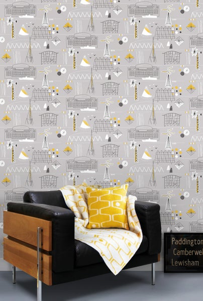 Image of Festival Wallpaper - Concrete