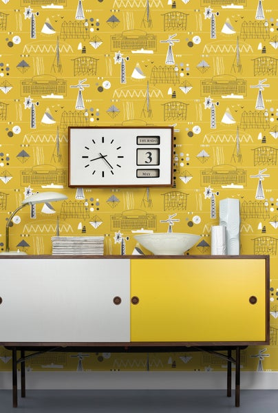 Image of Festival wallpaper - Mustard