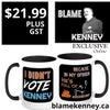 I Didn't Vote for Kenney Because He's Full Of Mug