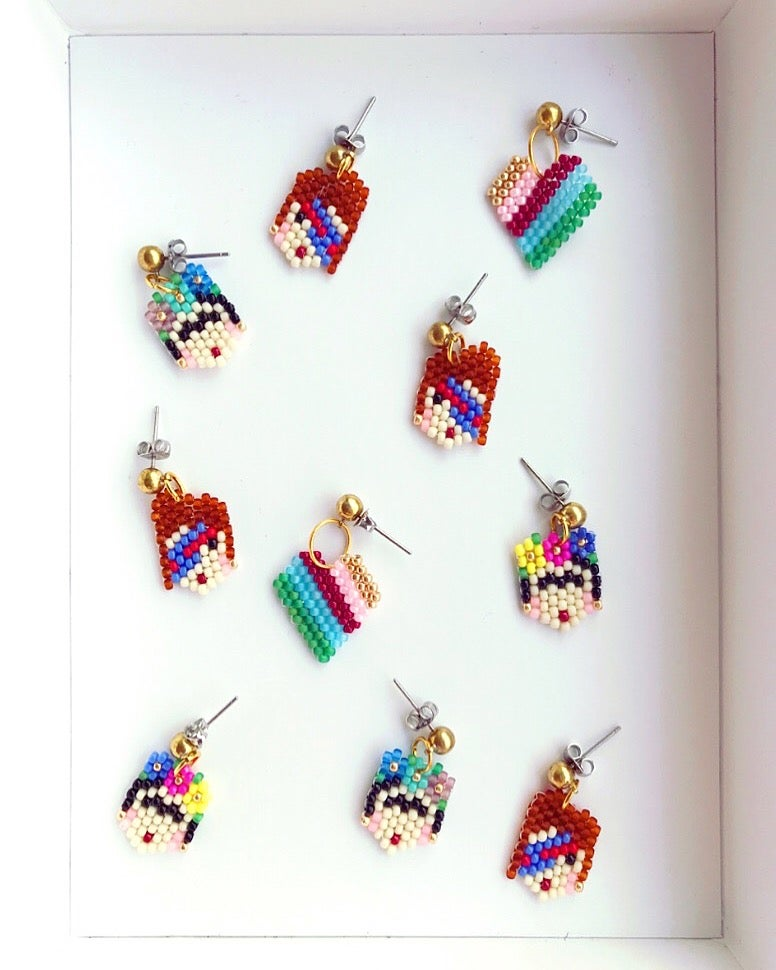 Image of Rainbow Hearts Mini Earrings🌈❤️