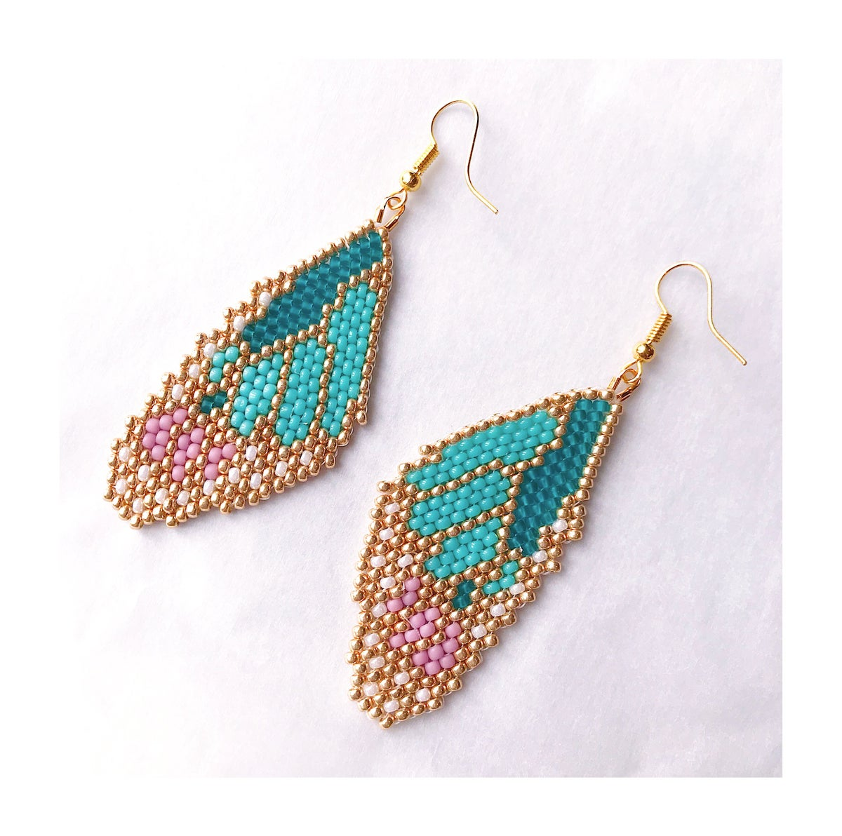 Image of Butterfly Wings- Pink, Turquoise & Gold