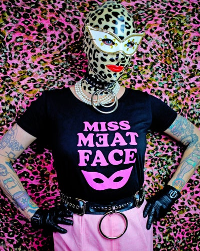 Image of MISS MEATFACE 'MASK' WOMENS TEE
