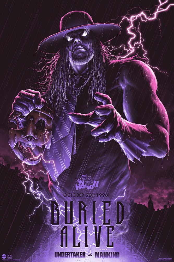 Image of WWE BURIED ALIVE - VARIANT AP EDITION (MONDO)