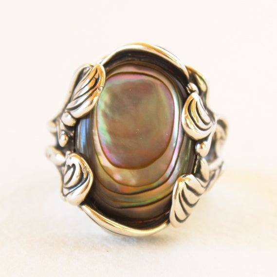 Image of Abalone ring by Crystal Hartman
