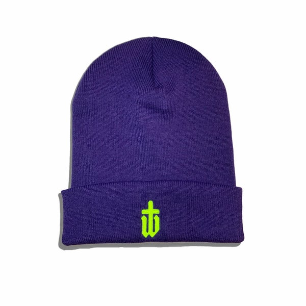 Image of PURPLE|NEON BEANIE